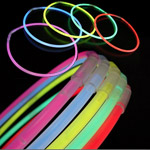 Glow Necklaces: Solid Color (Tube of 50)