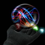 LightTracer Mitts Black LED Gloves (pair)