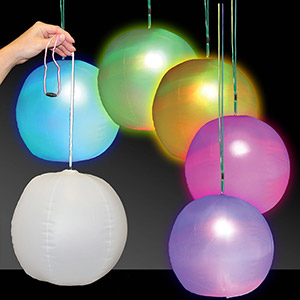 "12"" Inflatable LED Party Ball and Lantern"