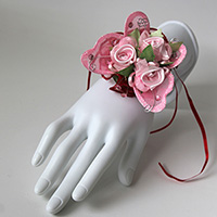 Triple Pink Rose and Butterfly Corsage Keepsake