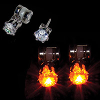 LED Amber Earrings (pair)