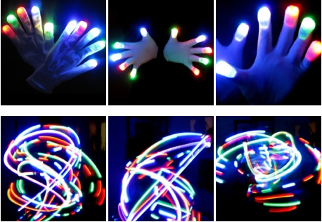 Color LED Gloves