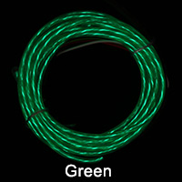 Green El Chasing Wire