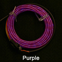 Purple El Chasing Wire