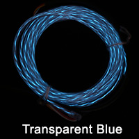 Transparent Blue El Chasing Wire