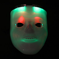 Light Up Hidden Skull Mask