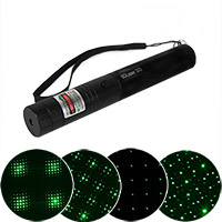 Green Galaxy Laser Pointer with Rechargeable Battery