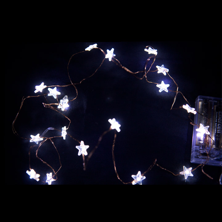 White Star String Light Wire Click To Enlarge